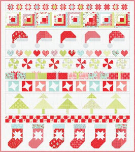 Vintage Holiday 78 x 88 Quilt Kit