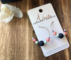 ~Hoop with Multi-colored Beads~ - September Nail Salon