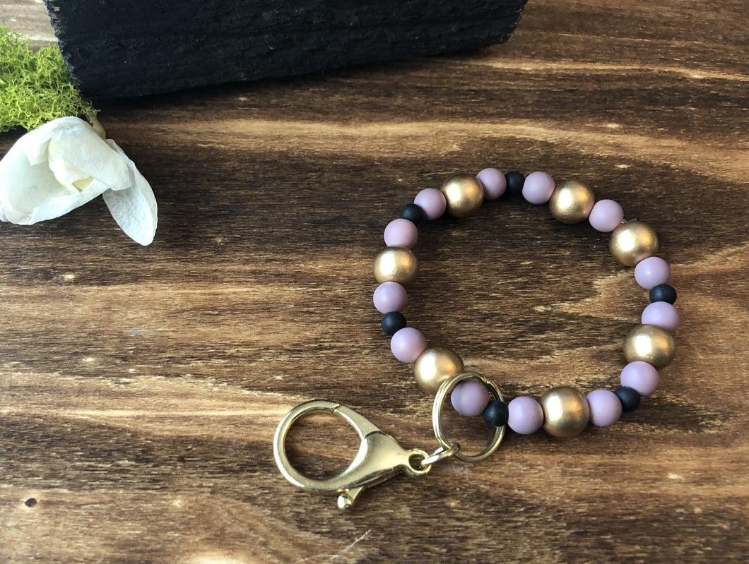 ~Keychain in Purple & Gold~ - September Nail Salon