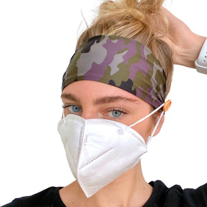 Headbands with Buttons for Holding Face Masks in Place - September Nail Salon
