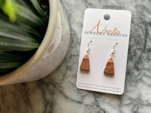 ~Small Wooden Pendants with Peach Accent~ - September Nail Salon