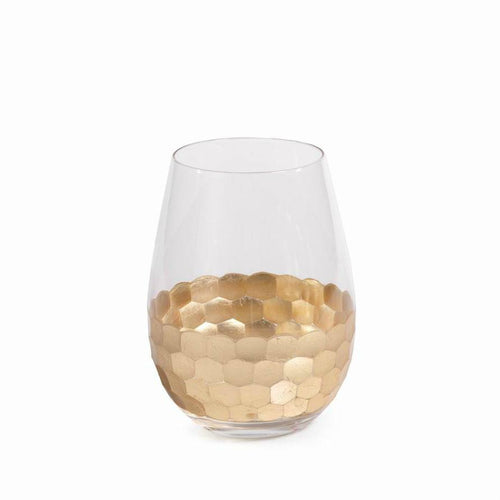 Gold Glass-Stemless Wine