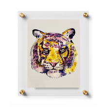 Acrylic Framed Watercolor Tiger Print