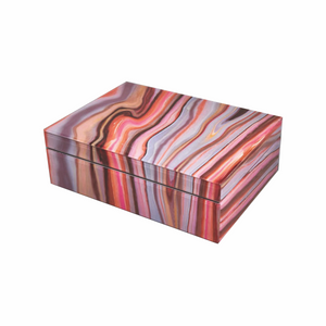 Red/Pink Marble Box