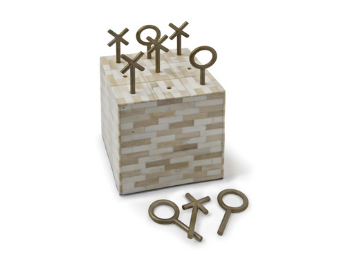 Decorative Tic Tac Toe Bone Block