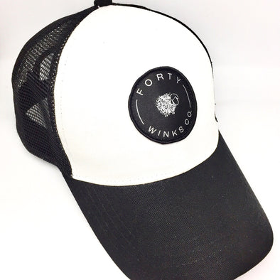 Forty Winks Co. Black and White Meshback Hat