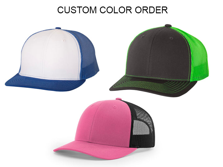 Custom Hat Color Order Premium
