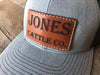 Custom Leather Patch Hat - Your Brand, Logo or Design