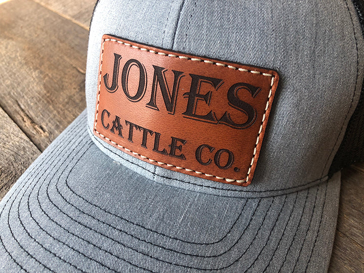 Men's Custom Leather Patch Hat - Your Logo or Design