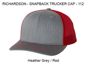 Richardson 112 Heather Grey/Red