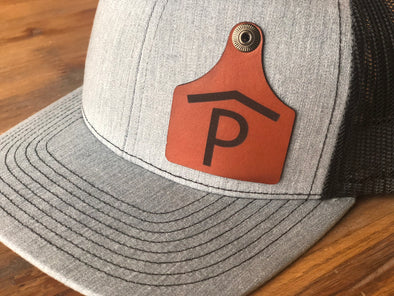 Cattle Tag- Leather Patch Hat