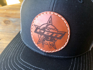 PBR- Circle Leather Patch Hat