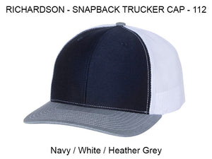 Richardson 112 Navy/White/Heather Grey