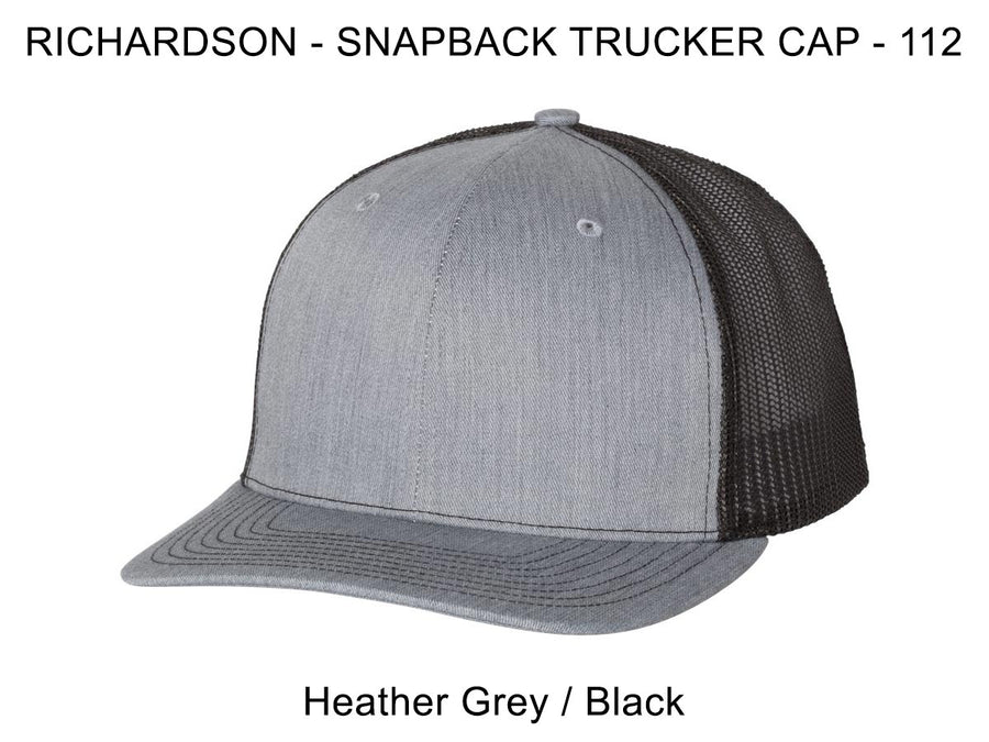 Richardson 112 Heather Grey/Black