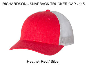 Richardson 112 Heather Red/White