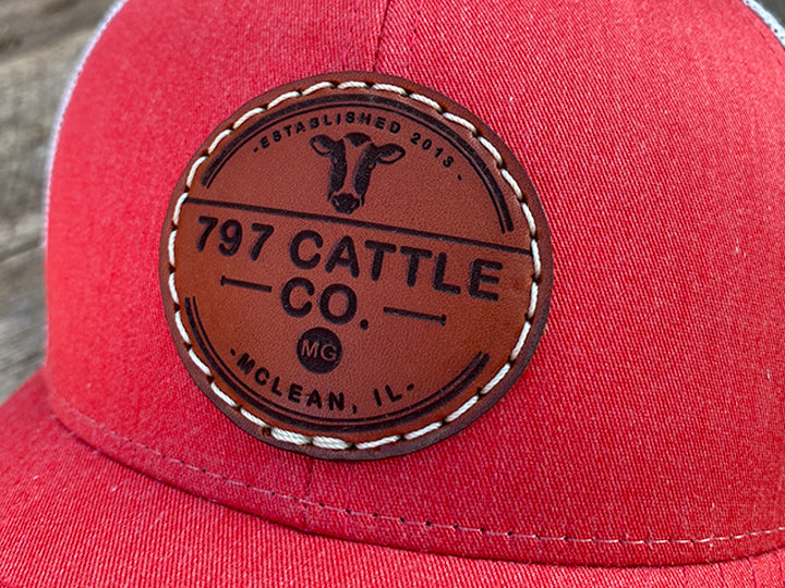 Women's Custom Leather Patch Hats (Your Logo or Design)