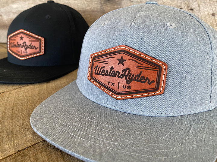 Youth Custom Leather Patch Hats