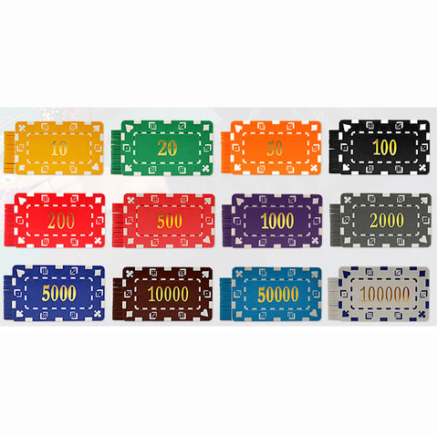 Big Boys! 10 PCS/LOT  Casino Chips 12 Colors 32g ABS/Iron Square Block Tile Many Colors - casinomegastore