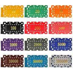 Big Boys! 10 PCS/LOT  Casino Chips 12 Colors 32g ABS/Iron Square Block Tile Many Colors