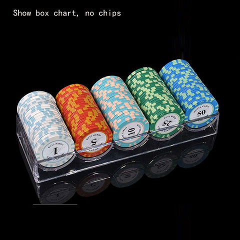 100 Piece Chip Rack Case With Covers Transparent for Casino Games Poker Baccarat - casinomegastore