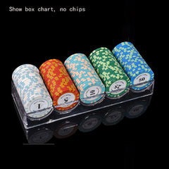 100 Piece Chip Rack Case With Covers Transparent for Casino Games Poker Baccarat