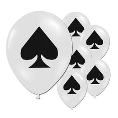 10pcs/lot 12inch Spades/Hearts/Clubs/Diamonds Latex Balloon Casino Poker Party Supplies