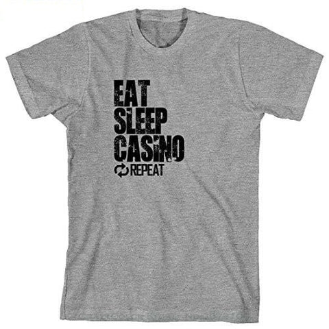 "TOP Quality Cotton Casual Men T Shirts ""Eat Sleep Casino Repeat"" - casinomegastore"