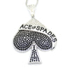 Image of Stunning Bling Large Size Ace of Spades Pendant Necklace - casinomegastore