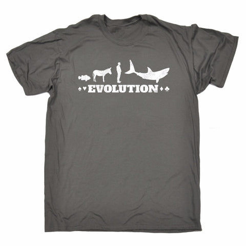 The Poker EVOLUTION! From Fish to Shark, Cotton Tee for Men, Women! - casinomegastore