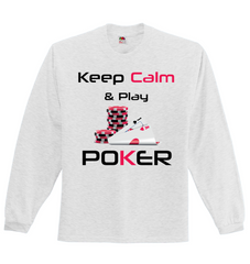 XMAS OFFER! Keep Calm and Play Poker Full Sleeved Jersey - casinomegastore