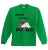Image of XMAS OFFER! Keep Calm and Play Poker Full Sleeved Jersey - casinomegastore