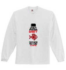 DUAL SPECIAL! Funny Caption! Long Sleeve Poker Themed Shirt & TShirt - casinomegastore