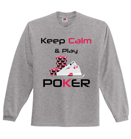 Keep Calm and Play Poker Full Sleeved Jersey - casinomegastore