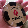 Image of 2pcs/set  DEALER+ALL IN  Poker Star Crystal Dealer Dia.2.56  Texas Hold'em Accessories - casinomegastore