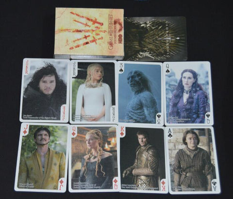 FIRE AND ICE! Game of Poker Thrones Playing Card Sets Poker Blackjack Collectors - Two Types! - casinomegastore