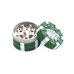 3 Layers Poker Chip Style Herb, Herbal, Grinder Gadget BRILLIANT!