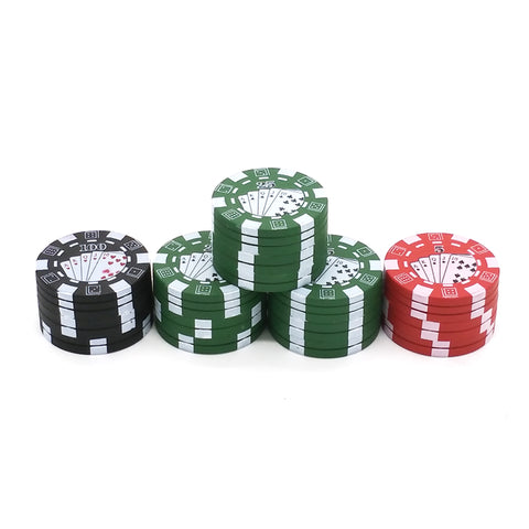 3 Layers Poker Chip Style Herb, Herbal, Grinder Gadget BRILLIANT! - casinomegastore