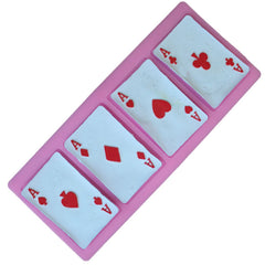 BIRTHDAY! 3D Playing Cards Chocolate Candy DIY Silicone Mould Cake Decoration/pastry tool - casinomegastore