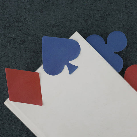 4 pcs/Lot Poker Shaped Sticky Notes 30 Sheets Paper Planner - casinomegastore