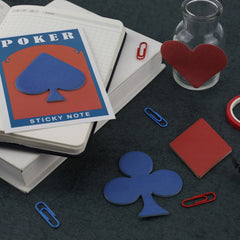 4 pcs/Lot Poker Shaped Sticky Notes 30 Sheets Paper Planner