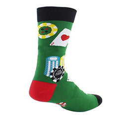 Novelty Crazy Crew Funny Shark Poker Dress Socks