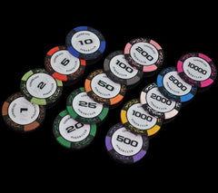 500PCS/SET 14g/pcs Entertainment Poker Chips Set + Metal Box