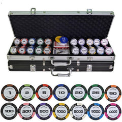 500PCS/SET 14g/pcs Entertainment Poker Chips Set + Metal Box - casinomegastore