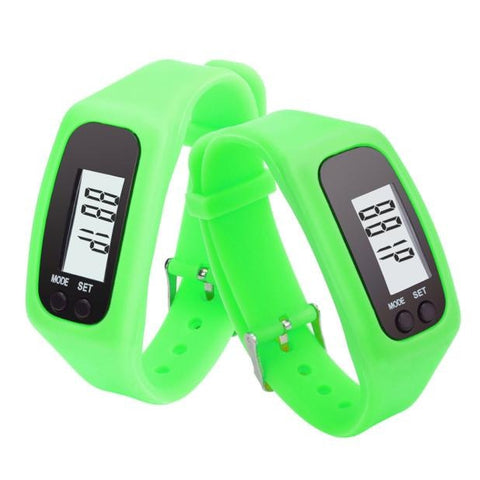 Unisex Rubber LED Watch Date Sports Bracelet Digital Wrist Watch Pedometer - casinomegastore