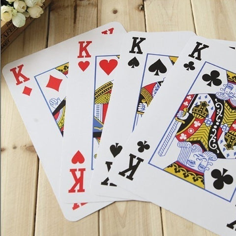 Fancy Enormous Poker Playing Cards High Quality Four Times Bigger Plastic - casinomegastore