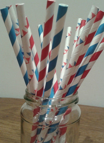 Creative! Casino Card Suits Paper Straws Party Stuff - casinomegastore