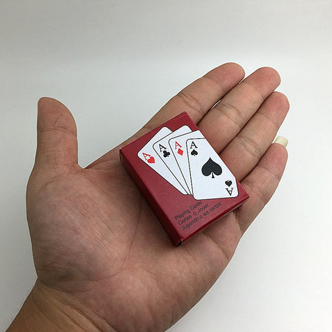 Super Cute Mini Cards Games Playing Poker Deck Easy to Carry - casinomegastore