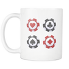 Image of Casino Chip Design Coffee Tea Mug - casinomegastore