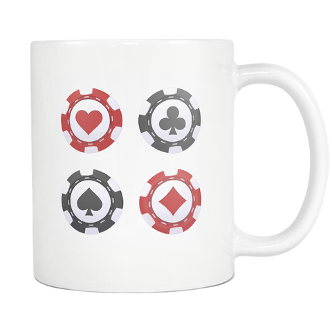 Casino Chip Design Coffee Tea Mug - casinomegastore