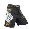 Image of SURFS UP! Men's Yellow Poker Royal Flush Tiger Boxing Fitness Swimming Surf Shorts - casinomegastore